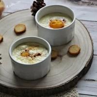 Oeufs cocottes au brie & lardons