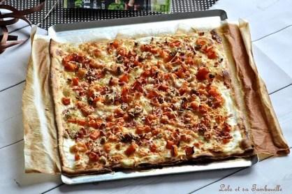 Pizza butternut & lardons (4)
