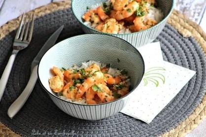 Crevettes sautées au citron vert & coriandre (3)