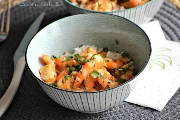 Crevettes poêlées à la coriandre