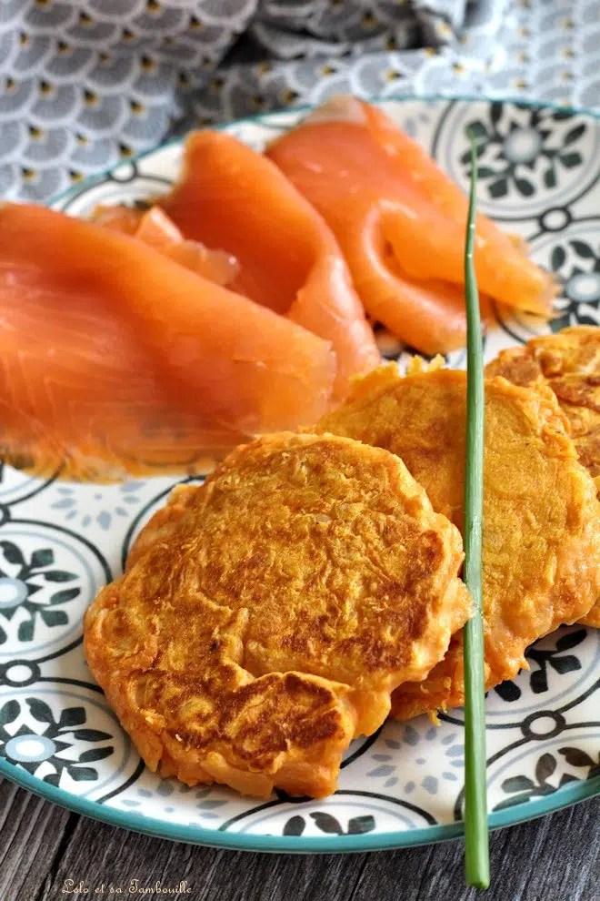 Blinis de patate douce aux amandes