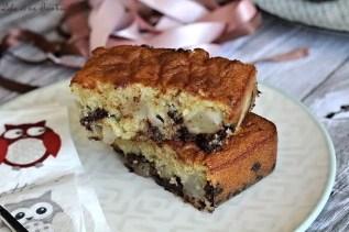 Gâteau moelleux aux poires & pépites de chocolat (6)