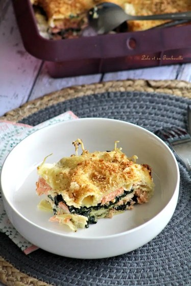 Lasagnes aux épinards & saumon (1)