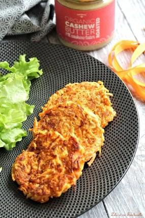 Galettes de carottes & beurre de cajou {aux blanx d'oeufs} (8)