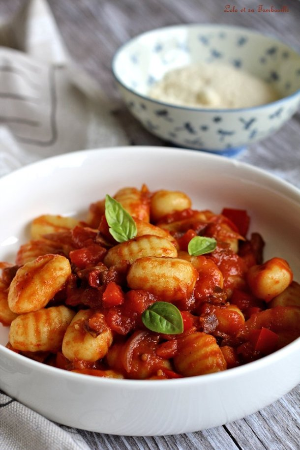 Gnocchis sauce tomates & coppa