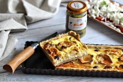 Tarte tomates séchées & chèvre (3)