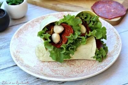 Wraps pocket chorizo & légumes grillés (1)