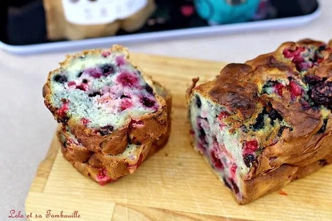Cake fruits rouges ricotta