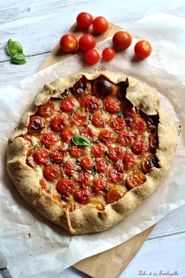 Tarte rustique aux tomates cerises