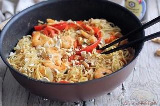 Nouilles sautées au crevettes & basilic (6)