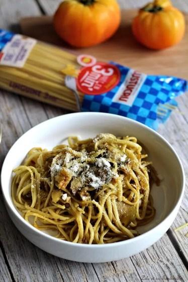 Spgaghettis au pesto & légumes (3)