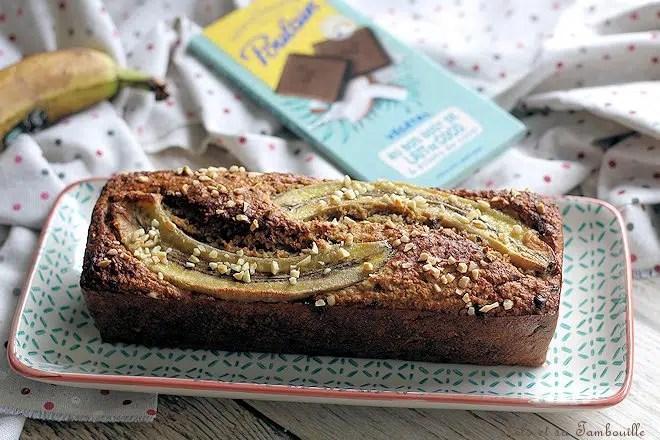 Banana bread flocons avoine
