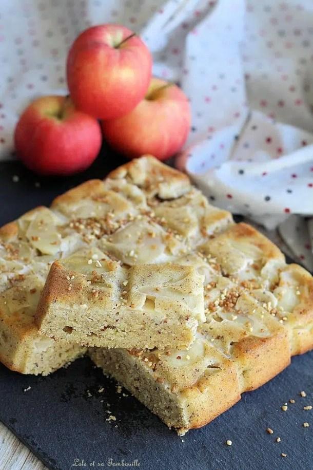 Moelleux pommes aux amandes & noisettes