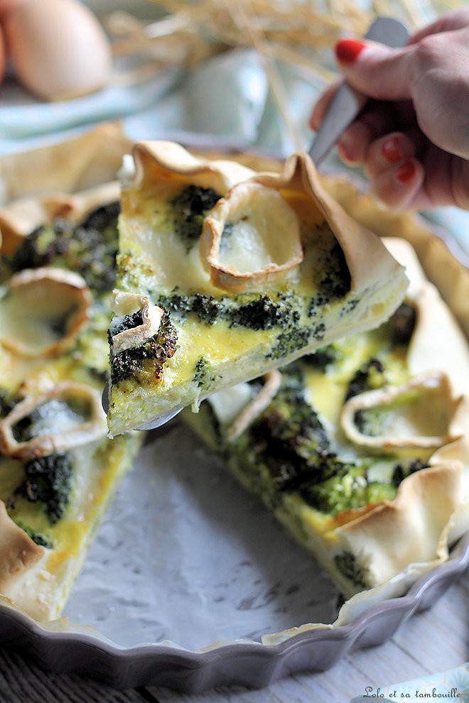 Tarte aux brocolis & chèvre