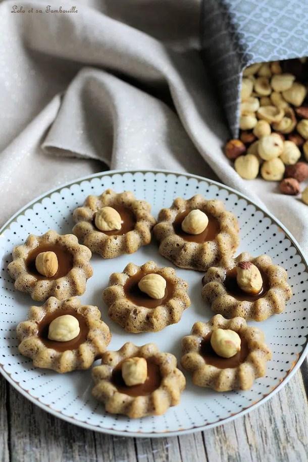 Bouchées aux noisettes & caramel