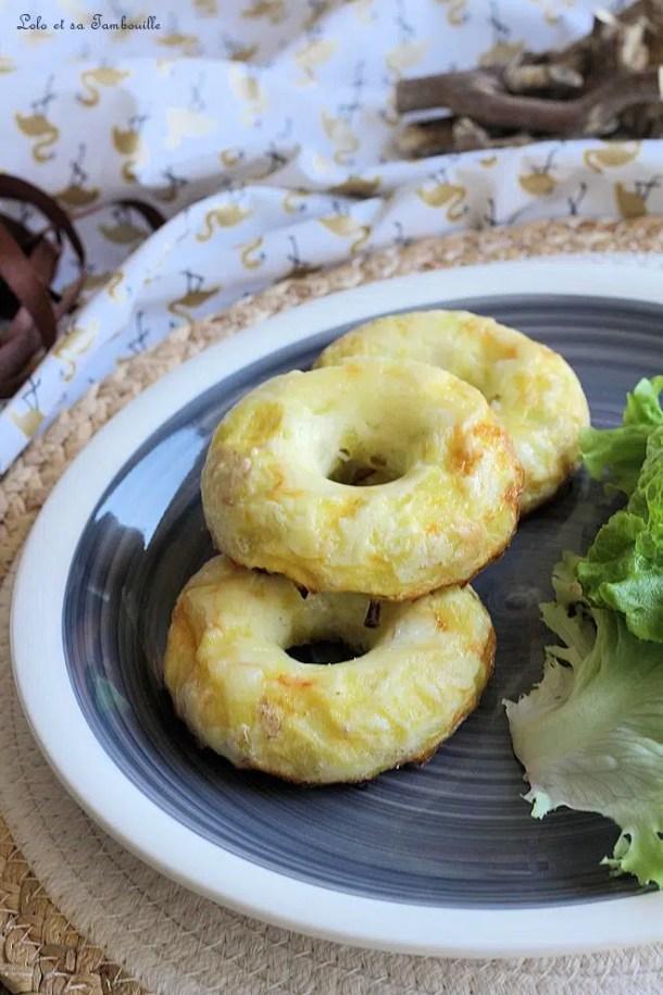 Donuts aux poireaux & bacon