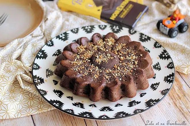 Fondant chocolat compote