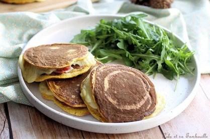 Pancakes à la butternut façon croque monsieur (2)