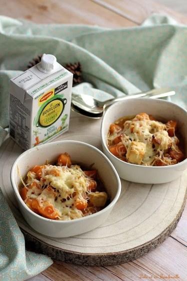 Gratinée de poulet & patates douces (4)