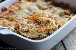 Gratin de macaronis jambon & cheddar (6)