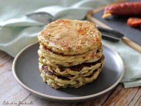 Pancakes au chorizo & poireaux (3)