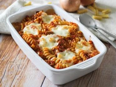 Gratin de pâte au thon & mozzarella (2)