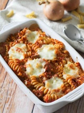 Gratin de pâte au thon & mozzarella (4)