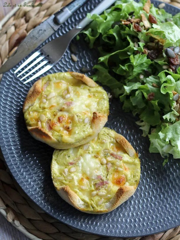 Quiches express {tomme & jambon}