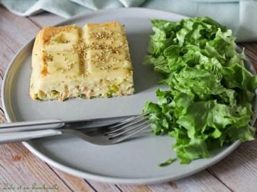 Quiche sans pâte au saumon & poireaux (4)