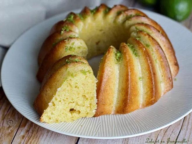 Bundt cake citron vert