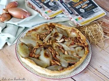 Tatin aux échalotes & lardons (3)