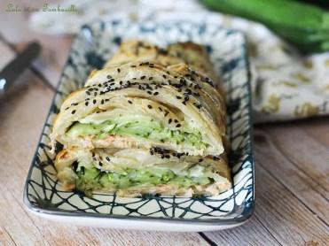 Tresse aux courgettes & saumon fumé (1)