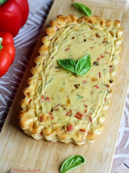 Clafoutis aux poivrons & chèvre frais (3)