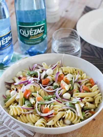 Salade de pâtes aux fèves & saumon fumé (4)