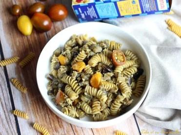 Pâtes aux aubergines & pesto (4)