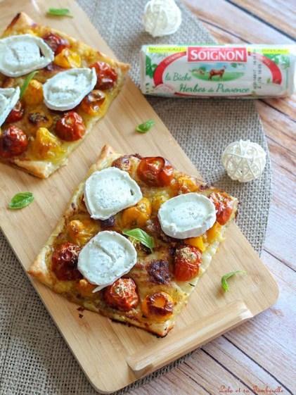 Tartelettes fines aux tomates & chèvre (4)
