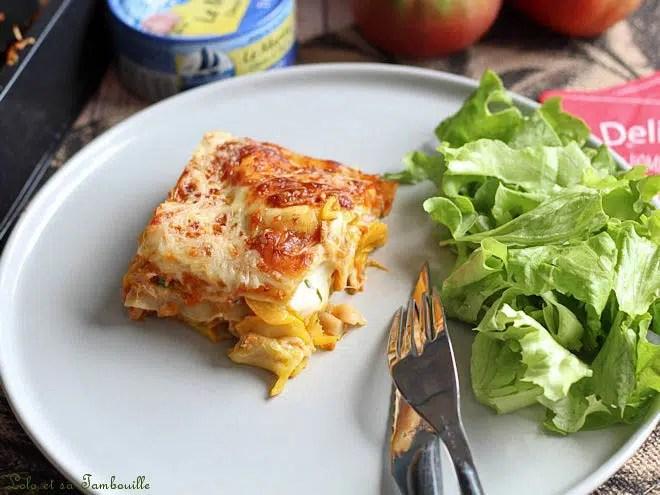 Lasagnes au thon,lasagnes au thon et courgettes,lasagnes au thon et légumes,lasagnes au thon rapide,lasagnes au thon facile