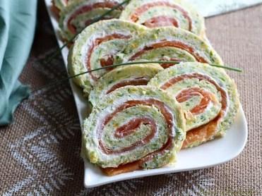 Roulé de courgettes au saumon & fromage frais (1)