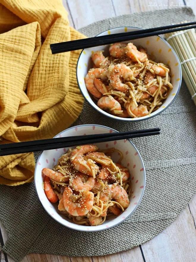 crevettes sautées soja miel, recette crevettes+soja+miel