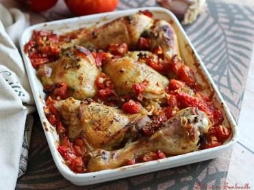 Cuisses de poulet au four, tomates & thym (4)