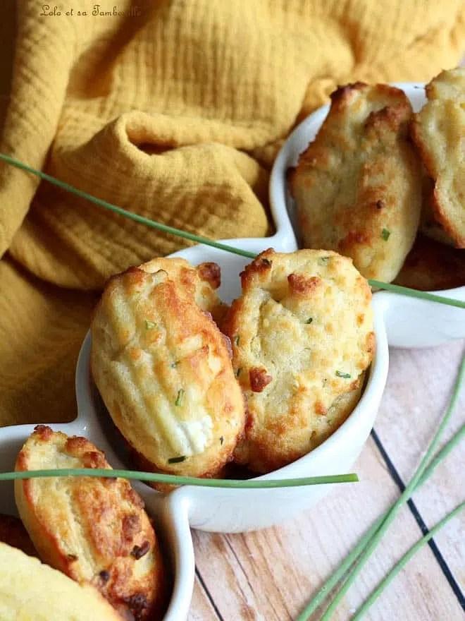 madeleines salées originales, madeleines salées végétariennes