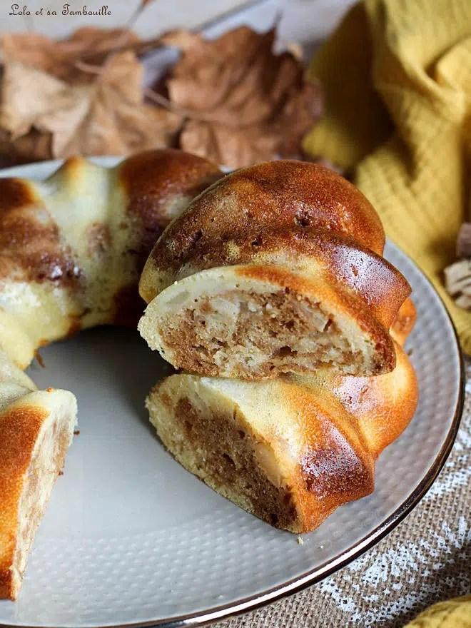 fondant poires praliné, recette de moelleux au praliné et aux poires