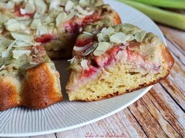 Gâteau renversé rhubarbe & fraises (5)
