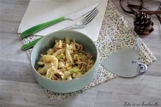 Pâtes aux poireaux & chorizo (5)