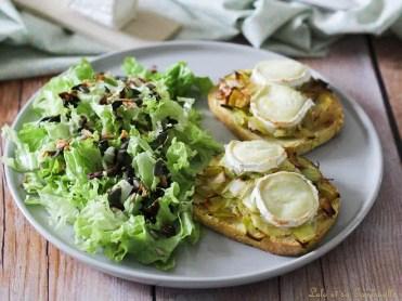 Tartines aux poireaux & chèvre (2)