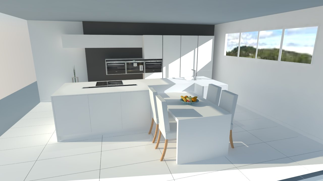 cuisine design avec ilot