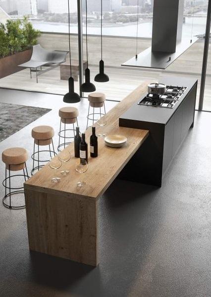 cuisine en bois gris