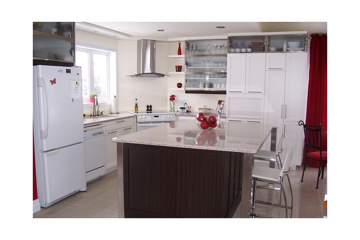 melamine kitchen cabinets countertops cost per square foot 3 cuisines laurier