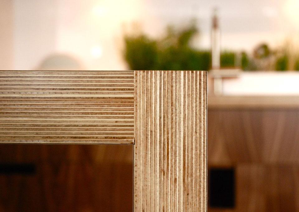 plan de cuisine en bois