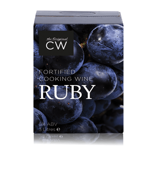 Cuisinewine Traditional Fortified Cooking Wine (Ruby) – 3 Litre (x4)